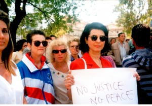 1996- Demonstrating in Buenos Aires for AMIA justice