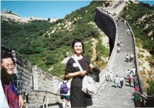 1995- Talia at the Great Wall of China
