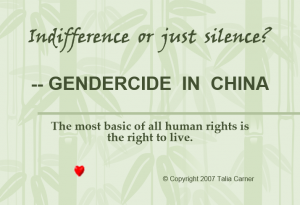 Gendercide in China