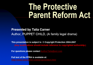 The Protective Parent Reform Act